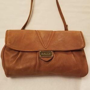 BALLY Vintage Clutch Shoulder Bag Leather